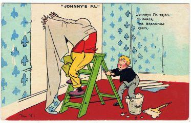 Wallpaperer postcard by Tom Browne.JPG
